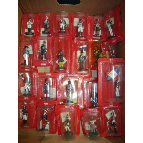 130 - Twenty two boxed and sealed Del Prado Napoleonic era unmounted figures...