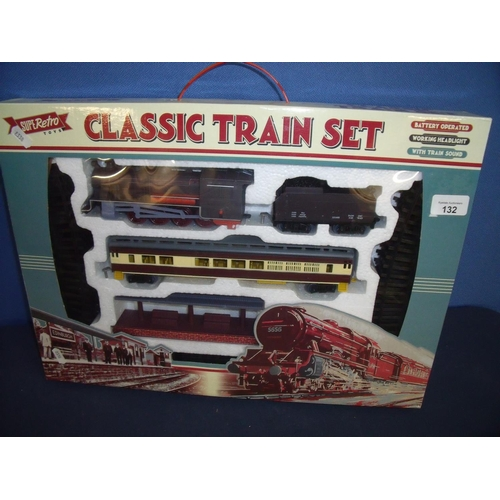 132 - Boxed as new Retro Toys Classic Train Set, OO gauge...