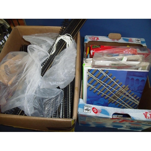 148 - WITHDRAWN: Large collection of OO gauge railway accessories including a large quantity of track, coa...