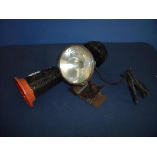 15 - Vintage spot light and a railway type train horn (2)...