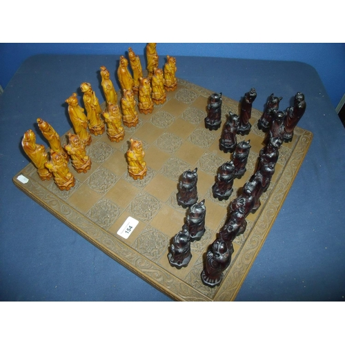 154 - Chinese style chess board...