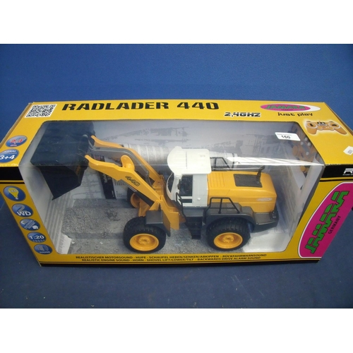160 - Boxed as new Radlader 4 40 remote control front loader tracker...