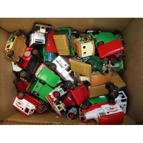 161 - Box containing a large quantity of various Corgi diecast advertising vehicles including Cornflakes, ...