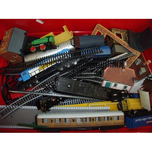 168 - Large quantity of OO gauge track, accessories, engines and rolling stock including Diesal Mehano Tra...