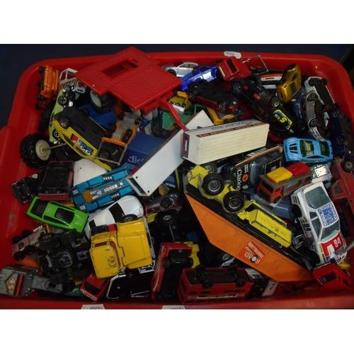 170 - Extremely large quantity of diecast vehicles including Matchbox, Corgi etc (play worn)...