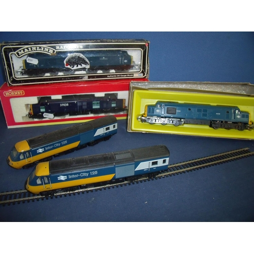 171 - Selection of OO gauge Hornby and Main Line Diesel engines including DRS37038, a Manchester Regiment ...