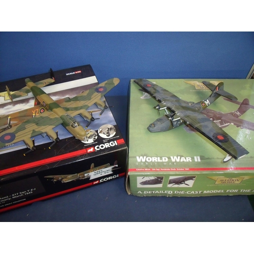 195 - Boxed Corgi Limited Edition Aviation Archives Scale 1.72 AA32616 Lancaster B1 Day Bomber (Grand Slam...