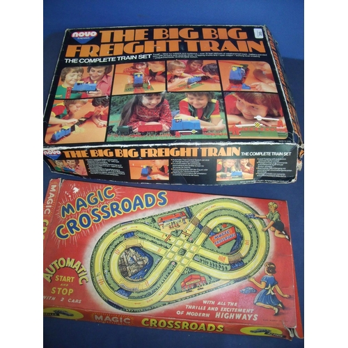 203 - Novo 'The Big Garden' freight train set and a Magic Crossroads boxed vintage game (2)...