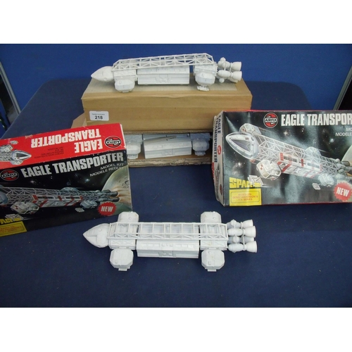 218 - Three Airfix Eagle Transporter model kits, two with original boxes, Series 6 model 06174-8 1999...