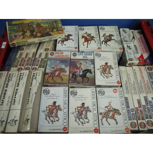 227 - Box containing extremely large quantity of mostly Airfix military figures including Japanese Infantr...