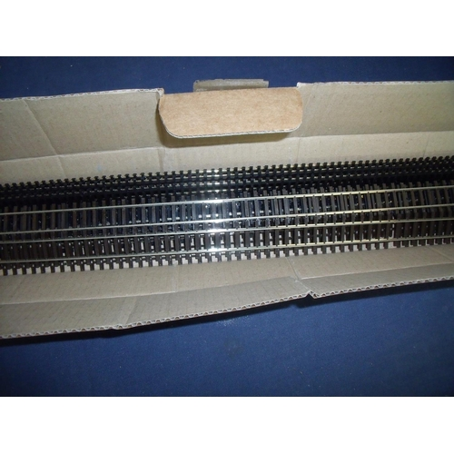 232 - Box of nickel silver OO gauge track...