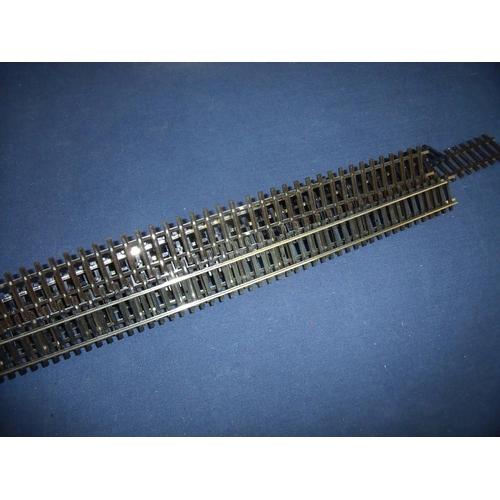 233 - Box of nickel silver OO gauge track...