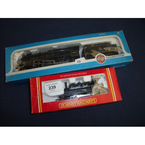 239 - Boxed Airfix OO gauge Royal Scot loco & tender and a Hornby Smokey Joe 56025...
