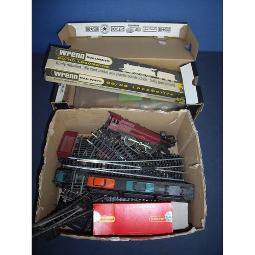 243 - Selection of various OO gauge items including track,  Prince locomotive, open box cart etc...