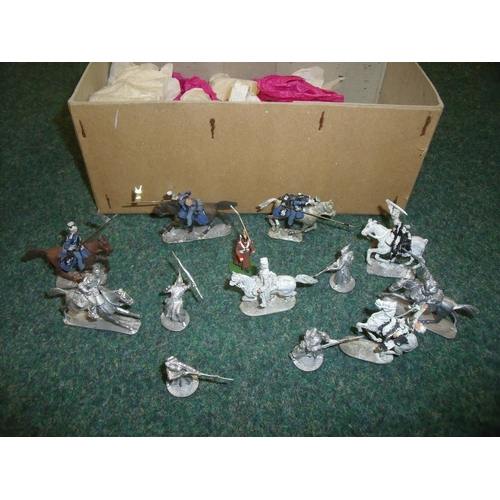 261 - Box containing 30mm scale 'Charge of the Light Brigade' cast metal military miniatures figures...