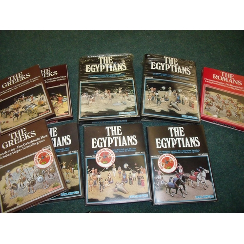 267 - Ten 1/32 scale model sets for the Egyptians, Romans etc...