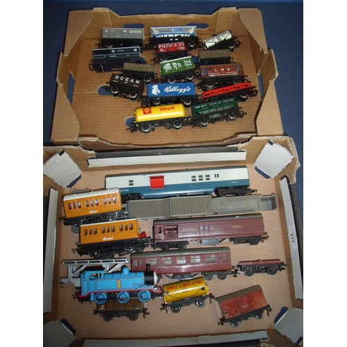 277 - A Thomas the Tank Engine, Annie and Clarabel carriages, a collection of OO gauge rolling stock box w...
