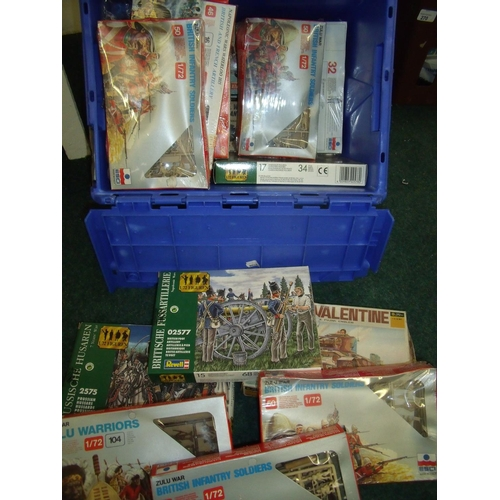 284 - Quantity of scale miniature military figures, mostly boxed as new including Rebell, Esci etc....