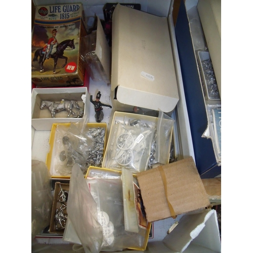291 - Large collection of various assorted military miniature models, mostly cast metal, some plastic exam...