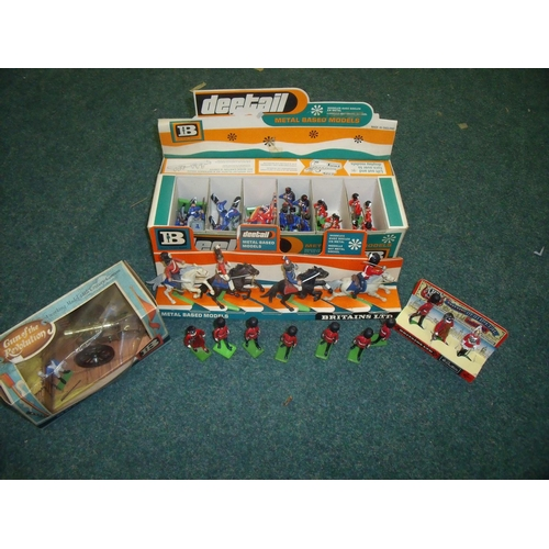 292 - Collection of Britains military figures including boxed Gun of the Revolution, box set of three guar...