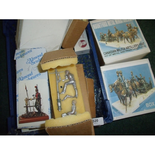320 - Collection of unmade cast metal Barton Almond and Mountford military miniatures mostly Napoleonic an...