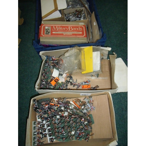 330 - Large quantity of various cast metal military miniatures of various scales and states, including pai...
