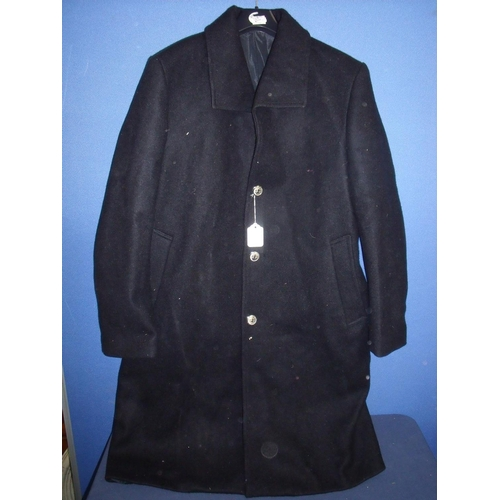 43 - Railwaymans overcoat with staybright BR buttons...