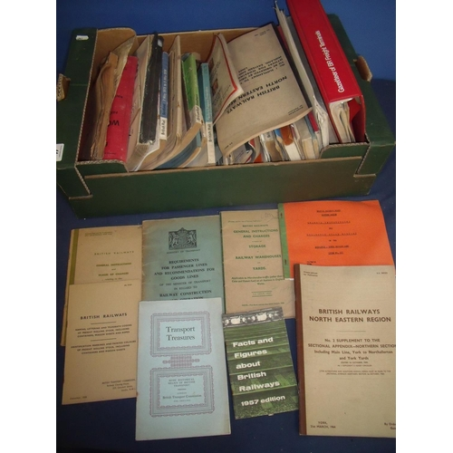 44 - Box containing a large quantity of various railway ephemera including booklets, magazines etc includ...