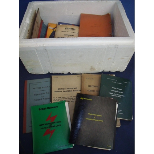 46 - Collection of railway paperwork, booklets, manuals etc including North East Region, York 1960, Worki...
