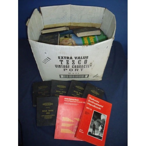 48 - Large quantity of railway booklets and paperwork, including rulebooks from the 1950s, luggage labels...