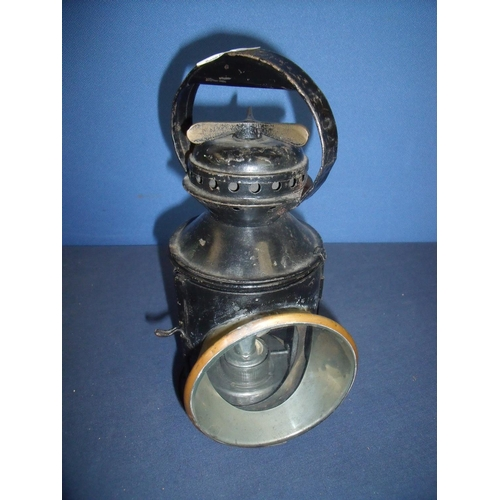57 - Appleton Patent railway hand lamp with filters, marked 8207B...