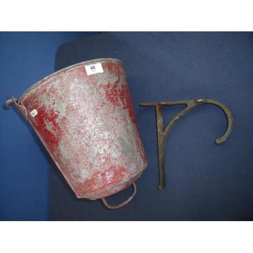 60 - LMS fire bucket with bracket...