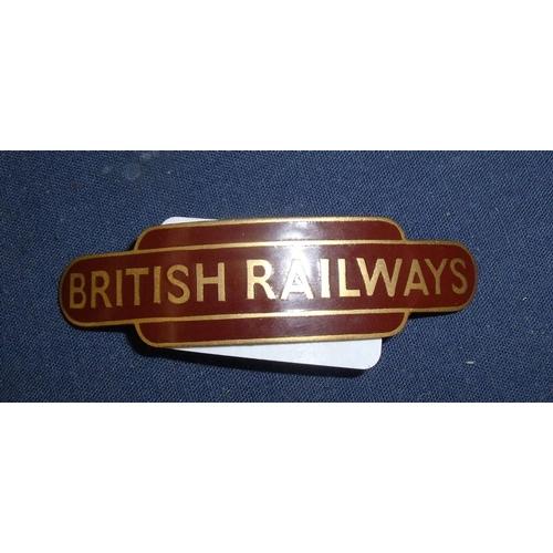 71 - British Railways totem enamel cap badge by J R Gaunt London...