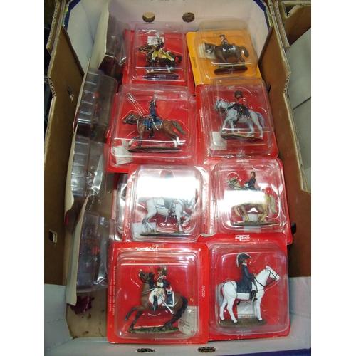 120 - Twenty boxed Del Prado Napoleonic era mounted figures sealed in boxes...