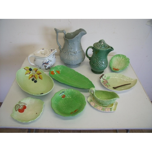 23 - Selection of Carlton Ware, Beswick Ware salad pattern bowls etc, also a teapot, Worcester coffee pot...
