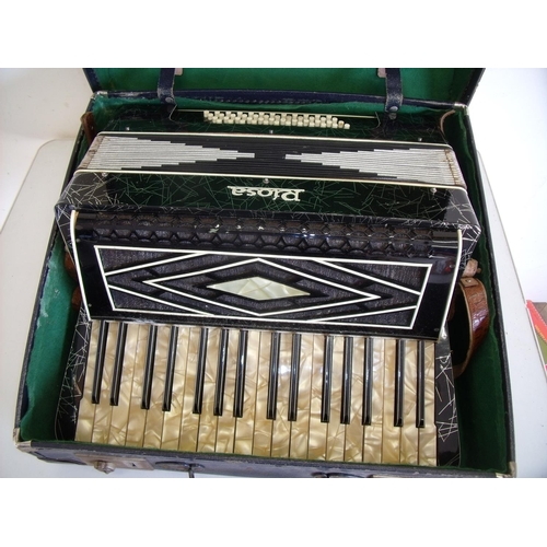 50 - Riosa cased piano accordion...