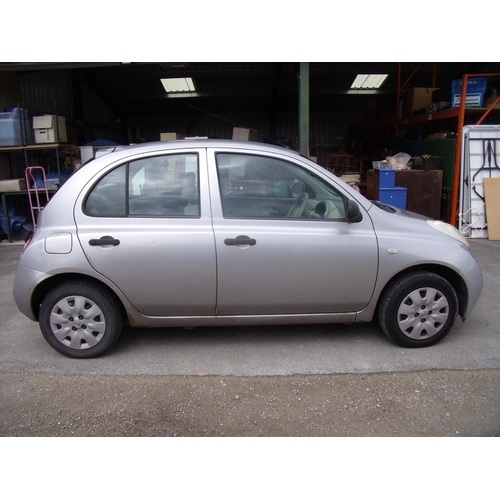 163 - Four door Nissan Micra F02, MOT expiring 20th July 2019, mileage 122848...