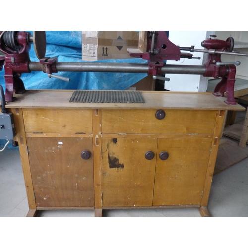 41 - Electric Coronet major wood turning lathe...