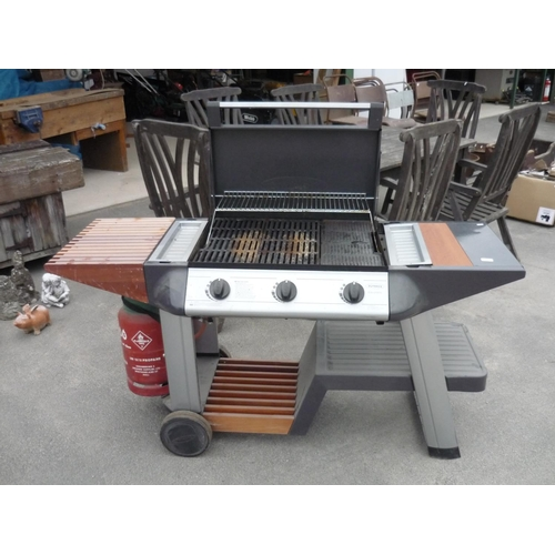 81 - Extremely large outdoor Propane gas outback barbeque...