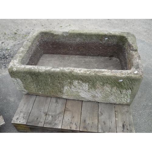 4 - Large stone trough...