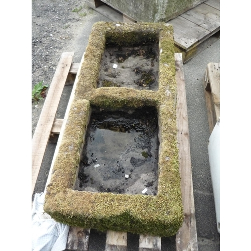 5 - Large stone trough with partition...