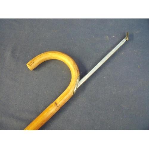 94 - 20th C horse measuring walking stick...