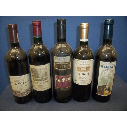 66 - Ten sealed bottles of various wine, mostly red wine, including 1955 Grand Vin de Bourgogne Nuits Sai...