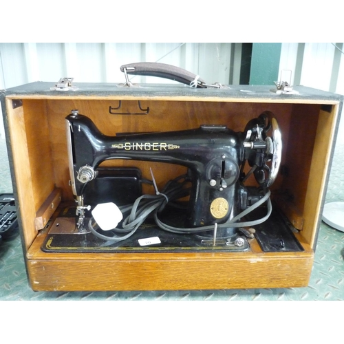 20 - Boxed vintage electric sewing machine...