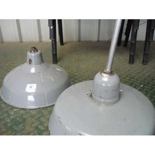 29 - Two industrial heat lamps...