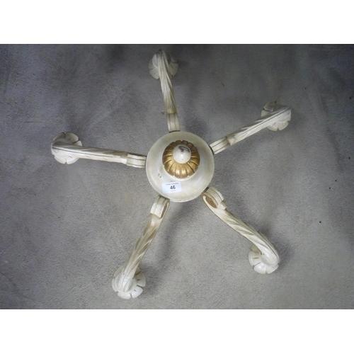 46 - Vintage wooden electric chandelier...