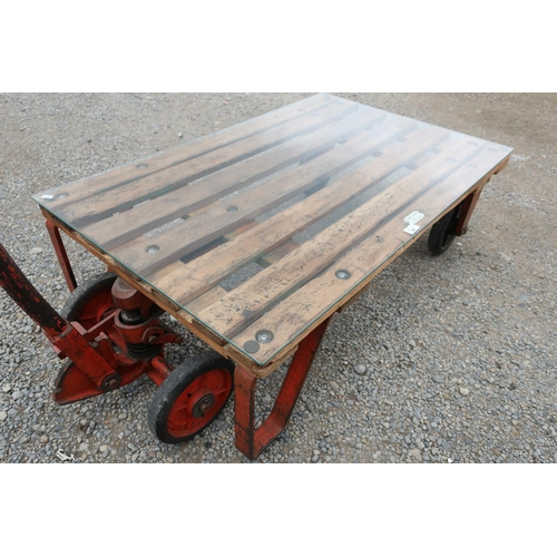 24 - Slingsby Hydraulic Pallet Truck converted to a coffee table...