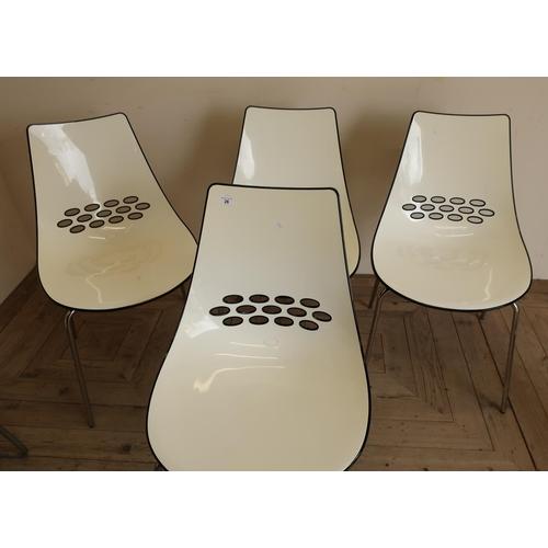26 - Set of four black & white Calligaris Jam chairs...