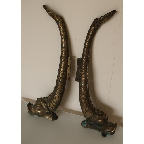 7 - Early-mid 20th C cast brass fountain mounts...