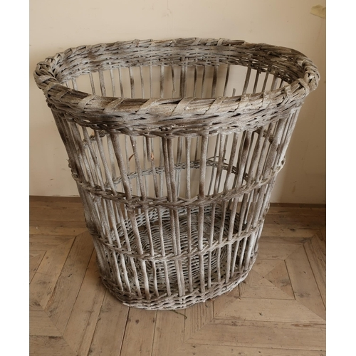 8 - Large wicker mill basket (85cm x 82cm)...